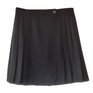 Max & Co black pleated mini-skirt - uk 14