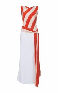 Jonathan Saunders Khadi And Crepe Aurelie Dress