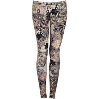 Alexander McQueen lace print leggings