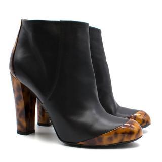 Gucci Leopard Print Block Heel Ankle Boots