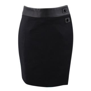 Tom Ford Black Asymmetrical Skirt