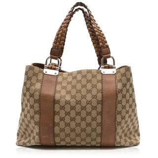 Gucci Monogram Beige and Brown