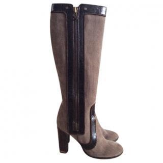 Stella McCartney below knee fabric boots