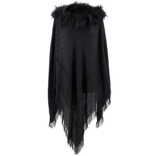 Gucci Poncho With Fox Fur