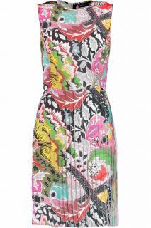 Jonathan Saunders Saskia Pleated Printed Satin Mini Dress