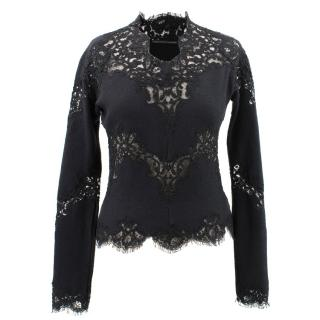 Ermanno Scervino Long Sleeve Lace Top