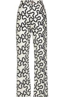 J.W.ANDERSON High-Rise Printed Slim-Leg Jeans