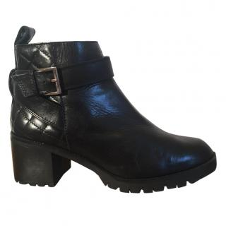 BIMBA Y LOLA black leather ankle boots