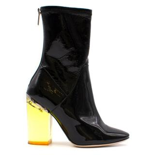 Christian Dior Patent Ankle Boots