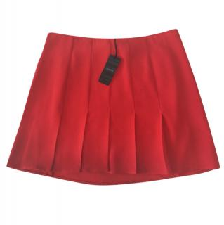 Joseph Red  Pleated skirt