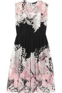 Jonathan Saunders Pink Marlow Printed Silk-georgette Dress