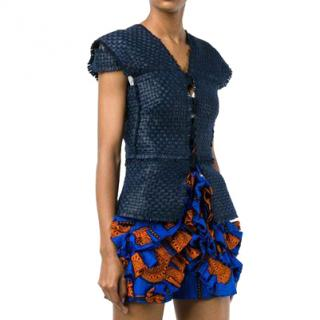 Roland Mouret Penfold Lattice-Weave Vest
