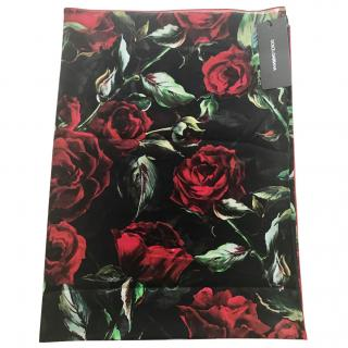Dolce & gabbana Red Roses scarf