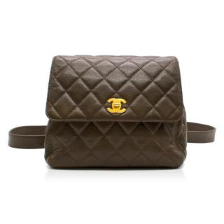 Chanel Vintage Caviar Leather Backpack