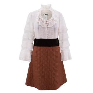Chloe Ruffle Collared Dress