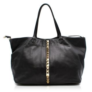 Valentino Rockstud Tote with Gold Shoulder Chain