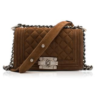 Chanel Suede Boy Cross Body Bag