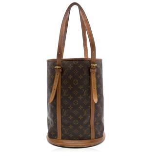Louis Vuitton Petit Bucket Monogram Canvas Bag With Wallet