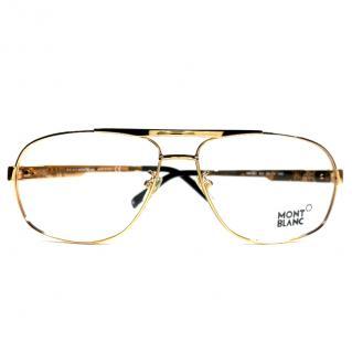 Mont Blanc Glasses Frames MB431 001 Rose Gold/Black