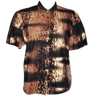 Prada Black and Brown Shirt