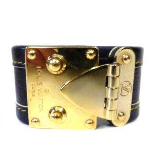 Louis Vuitton Suhali leather cuff
