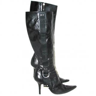 Christian Dior knee high leather boots