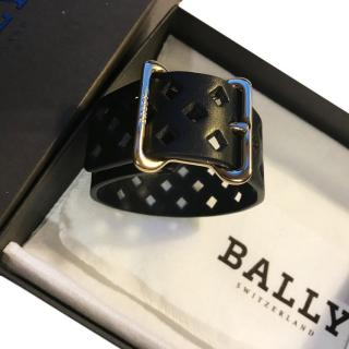 Bally Cut Out Leather Bracelet