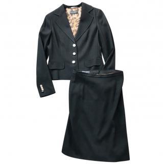 Dolce & Gabbana�black waffle skirt suit