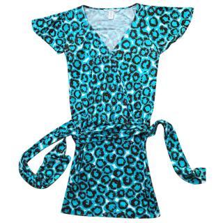 Diane von Furstenberg patterned mini wrap dress