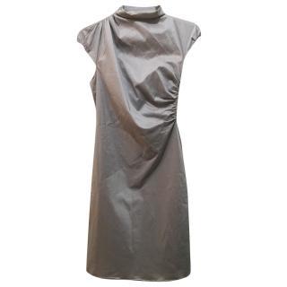 Hugo Boss silver grey sheath dress