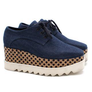 Stella McCartney Denim Contrast Elyse Shoes