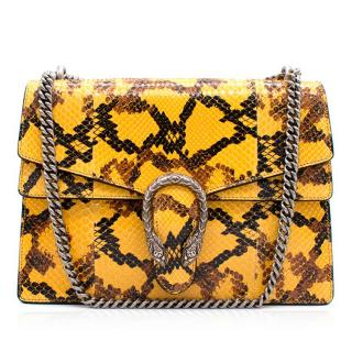Gucci Dionysus Yellow Python Shoulder Bag
