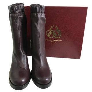 Opening Ceremony Lucie Burgundy Boots