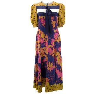 Roksanda Floral Midi Dress