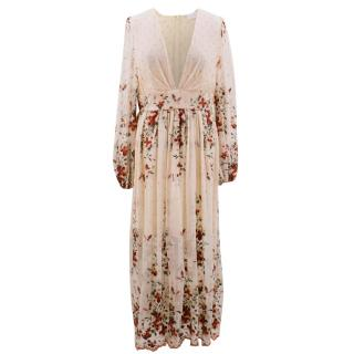 Zimmermann Long Floral Embroidered Dress
