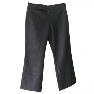 Marni Grey Herringbone Trousers