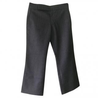Marni Grey Herringbone Trousers