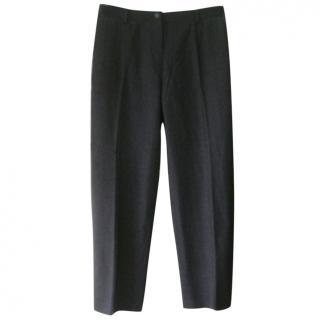 Giorgio Armani Grey Wool Blend Trousers