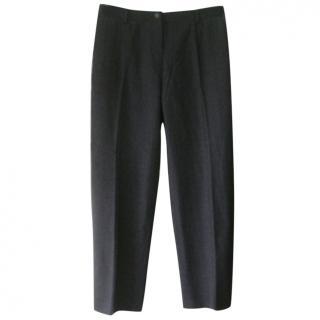 Giorgio Armani Grey Wool Blend Trousers