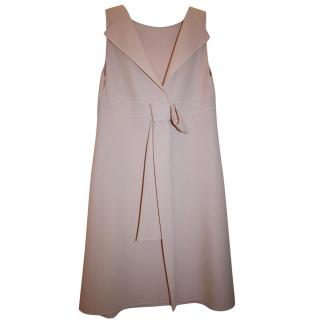 CELINE PINK WOOL BOW BACK DRESS