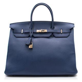Hermes Blue De Prusse Togo Leather Birkin 40cm