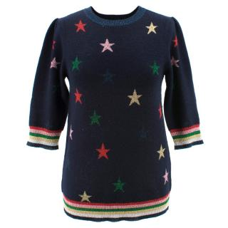 Donna Ida Cashmere Blend Star Print Jumper