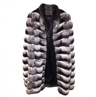 Harrods Chinchilla Long Cape Jacket