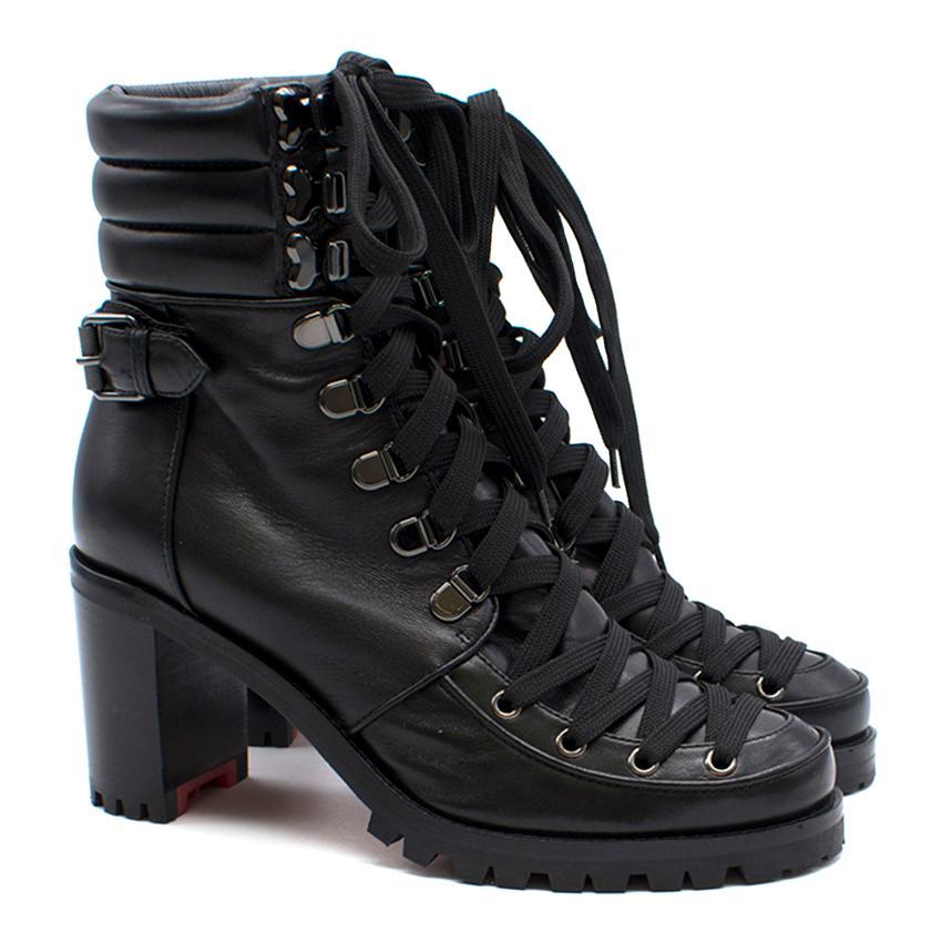 super popular ca75a 715e1 Christian Louboutin Who Runs Lace Up Black Boots