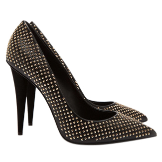 Giuseppe Zanotti Black Studded Heels | HEWI