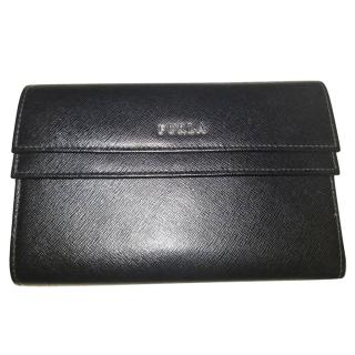 Furla black leather wallet