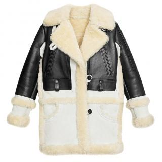 Coach, New York Leather & Shearling coat