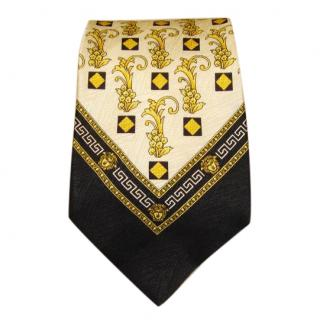 Versace black and yellow tie