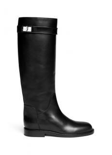 Givenchy Shark tooth turn lock leather riding boots
