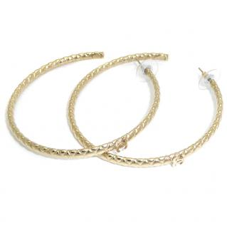 Chanel cc gold plated hoops